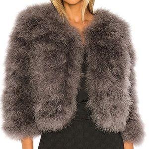 Jocelyn Fifi bolero feather jacket